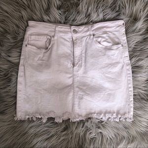 White Denim Skirt Size 28